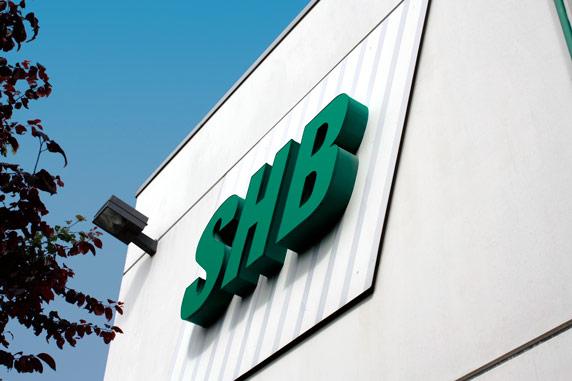 SHB Logo am Verwaltungsgebäude in Osterburken