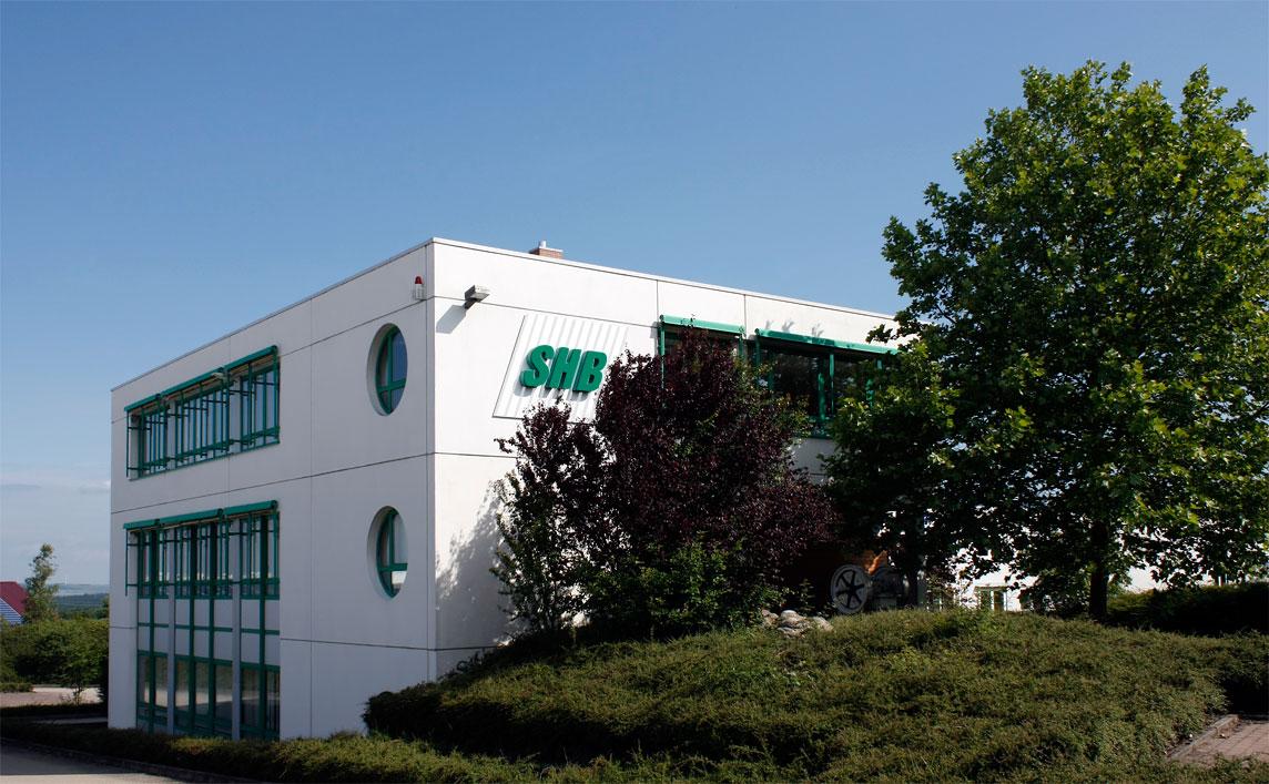 Ansicht des Verwaltungsgebäudes der SHB GmbH & Co. KG in Osterburken