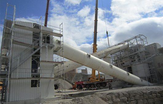 Sandlinie zur Herstellung von Sand für die Betonproduktion